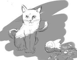 #5 for Illustrate a Cat and Plants on Bottom af kenniken