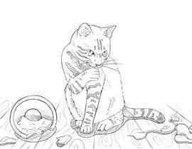 #23 for Illustrate a Cat and Plants on Bottom af NightLightArt