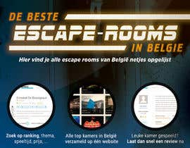 #41 for Design A6 flyer for an escape room review website by ydantonio