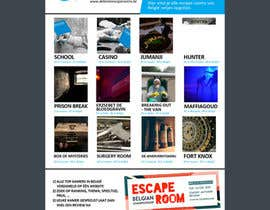 #23 for Design A6 flyer for an escape room review website by jhess31