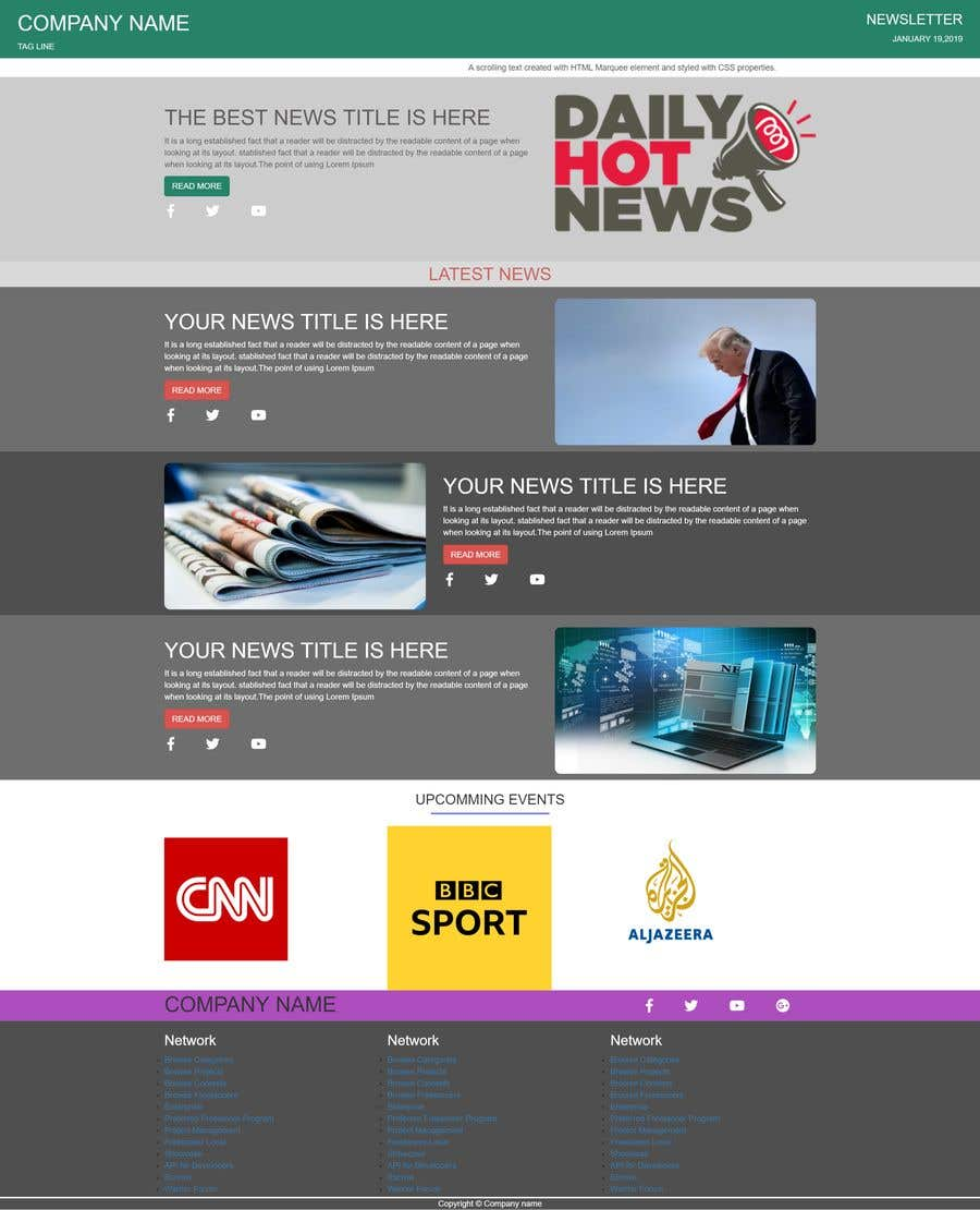 Contest Entry #23 for Design a Newsletter HTML