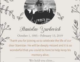 #13 for Design me a prayer card for a funeral af houssamalmas