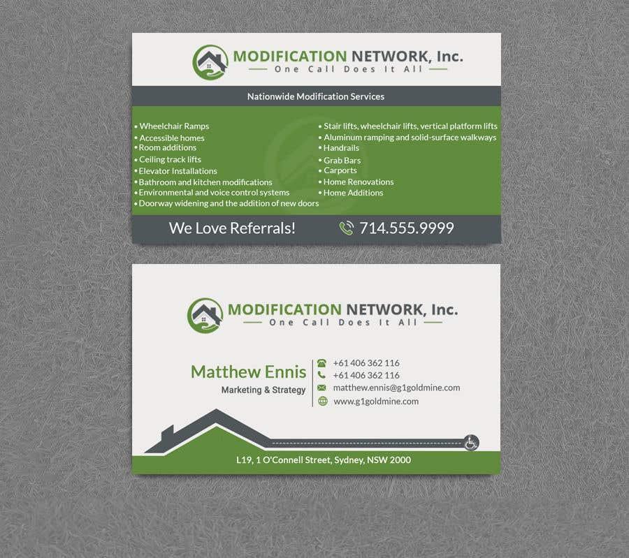 Konkurrenceindlæg #107 for Business card for a handicap home modification construction company