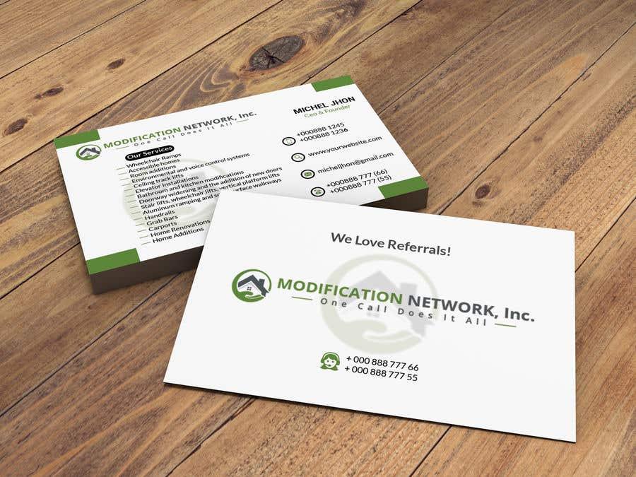Konkurrenceindlæg #92 for Business card for a handicap home modification construction company