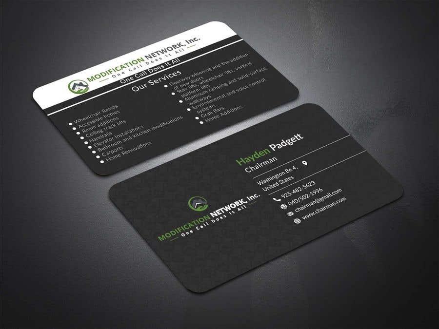 Konkurrenceindlæg #33 for Business card for a handicap home modification construction company