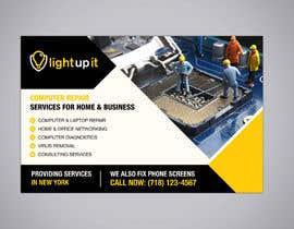 Nro 113 kilpailuun Hand flyer for computer services company käyttäjältä moslehu13