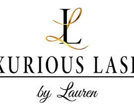 """#21 untuk I have a eye lash extension business. I need a logo similar to the picture I posted, but the cursive L I want gold and the regular L I want to keep black. And at the bottom I want it to say """"Luxurious Lashes by Lauren"""". My colors are black gold and white. oleh IvanMyerchuk"""