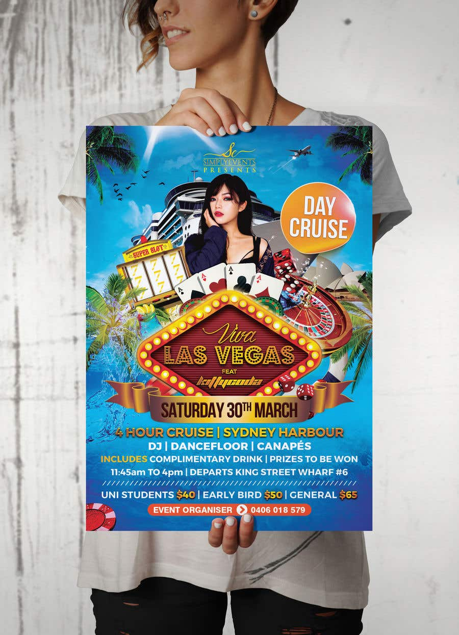 Contest Entry #26 for Flyer for Cruise Party Event