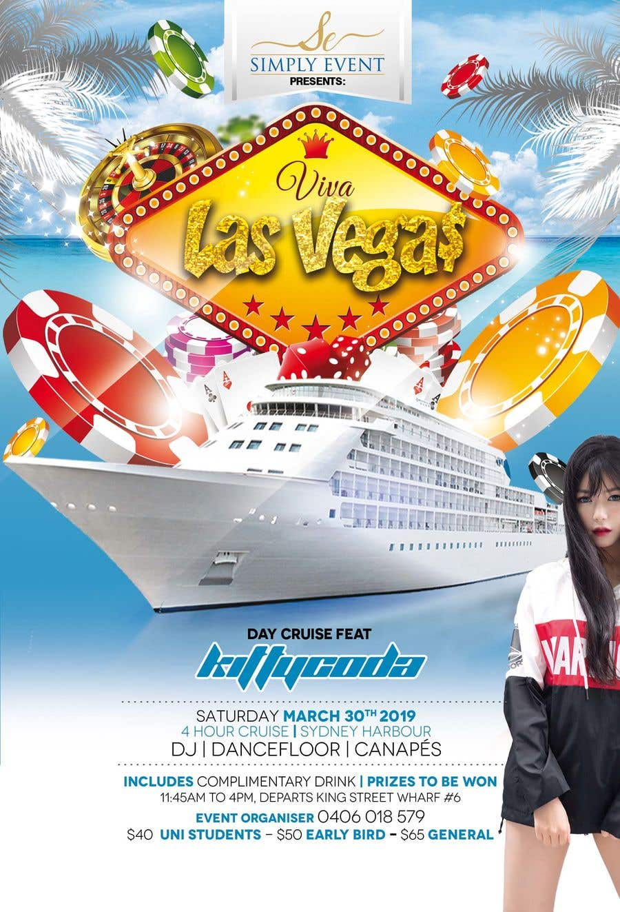 Contest Entry #21 for Flyer for Cruise Party Event