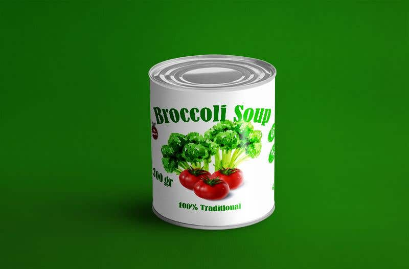 "Intrarea #37 pentru concursul ""I need a logo for a 2D artist. It must be a soup can with a ""Broccoli Soup"" title."""