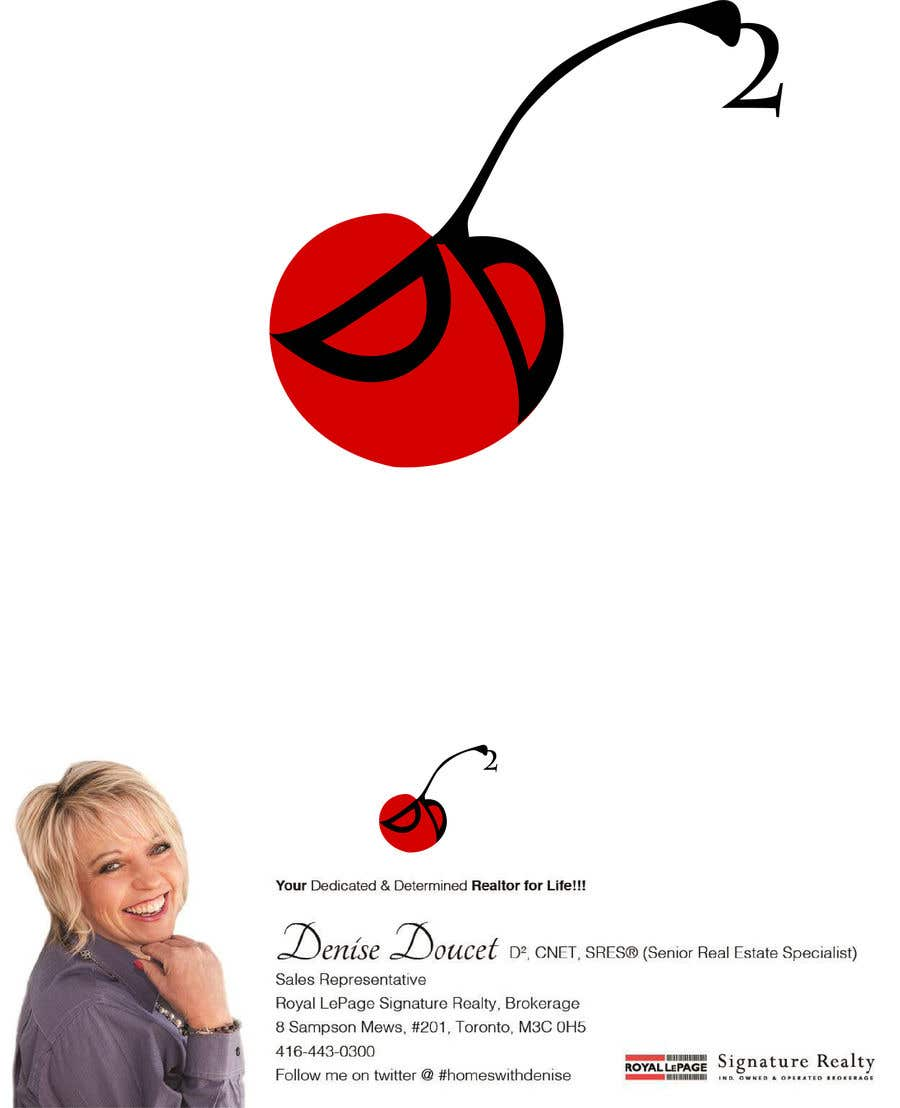Конкурсная заявка №8 для I would like to rework the red dot logo with my tag line of Dedicated & Determined going up the stem of the cherry.  I've attached a sample of how it appears on my letterhead. I want to remove the wording from underneath the logo (red dot)