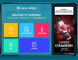 #70 для Vapemenu Tablet App Redesign Contest от dilshanzoysa