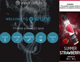 #71 для Vapemenu Tablet App Redesign Contest от lynndesouza