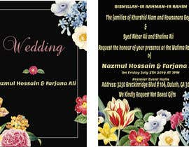 #61 for Need a Wedding Invitation Card by AmanSaeed2629