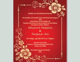 #48 for Need a Wedding Invitation Card by Afrintarin