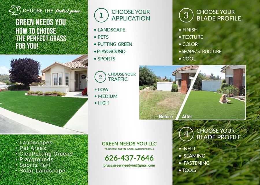 Kilpailutyö #11 kilpailussa Needs a brochure for a fake grass company
