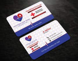 #105 para design double sided business card - WNY CPR por riakash48