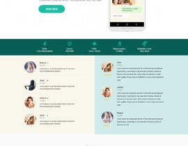 nº 12 pour Design of a landing page for DATING par sneha15112018