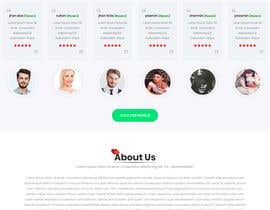 nº 29 pour Design of a landing page for DATING par arafathhshemanto