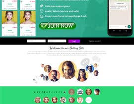 nº 17 pour Design of a landing page for DATING par sascristian