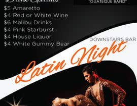 nº 18 pour Flyer for Bar Latin Night & Ladies night par sapakolaki