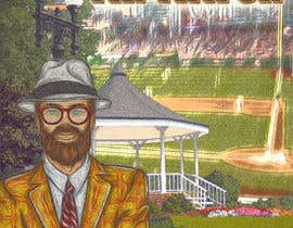 """Nro 5 kilpailuun I need a illustration for a musical production called """" Dear Mr Mayor"""". The gazebo being the main focus and the baseball field in the background with a gruff looking Mayor in the front left. käyttäjältä rickysumendap"""