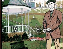 """Nro 21 kilpailuun I need a illustration for a musical production called """" Dear Mr Mayor"""". The gazebo being the main focus and the baseball field in the background with a gruff looking Mayor in the front left. käyttäjältä moshiur1995"""