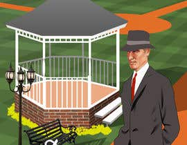 """Nro 11 kilpailuun I need a illustration for a musical production called """" Dear Mr Mayor"""". The gazebo being the main focus and the baseball field in the background with a gruff looking Mayor in the front left. käyttäjältä megatmarzuqi"""