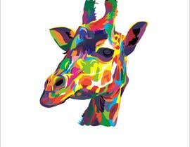 #8 para Create colored giraffe prints por djamolidin