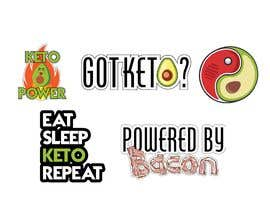 #2 для Pack of 10 Keto Diet Themed Stickers от arqjuliobs