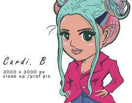 Nro 10 kilpailuun Cardi B - Caricature Contest käyttäjältä SamuelA314