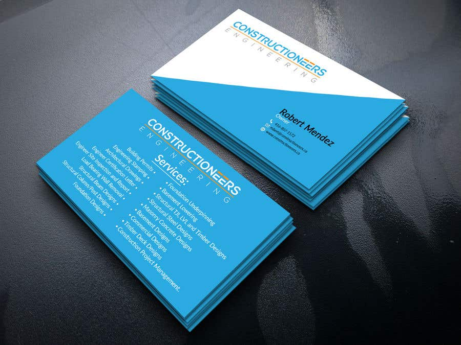 Kilpailutyö #88 kilpailussa Business Card Design for a Residential Engineering Company
