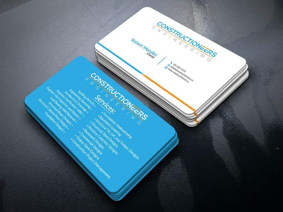 Kilpailutyö #98 kilpailussa Business Card Design for a Residential Engineering Company