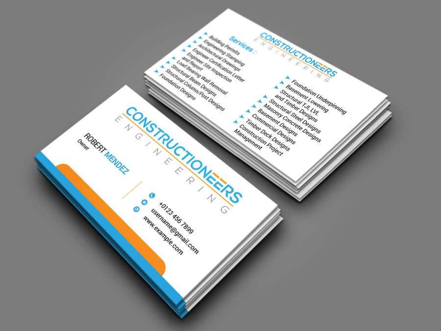 Kilpailutyö #24 kilpailussa Business Card Design for a Residential Engineering Company