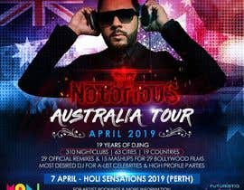 Nro 39 kilpailuun DJ Australia Tour Poster käyttäjältä satishandsurabhi
