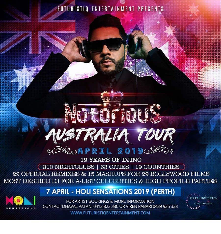 Конкурсная заявка №41 для DJ Australia Tour Poster
