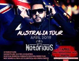 Nro 22 kilpailuun DJ Australia Tour Poster käyttäjältä toriqkhan