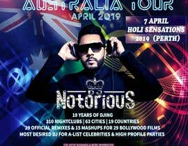 Nro 32 kilpailuun DJ Australia Tour Poster käyttäjältä toriqkhan