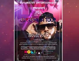 Nro 34 kilpailuun DJ Australia Tour Poster käyttäjältä Salah7z