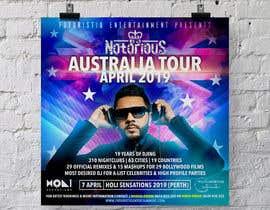 Nro 27 kilpailuun DJ Australia Tour Poster käyttäjältä b3ast61
