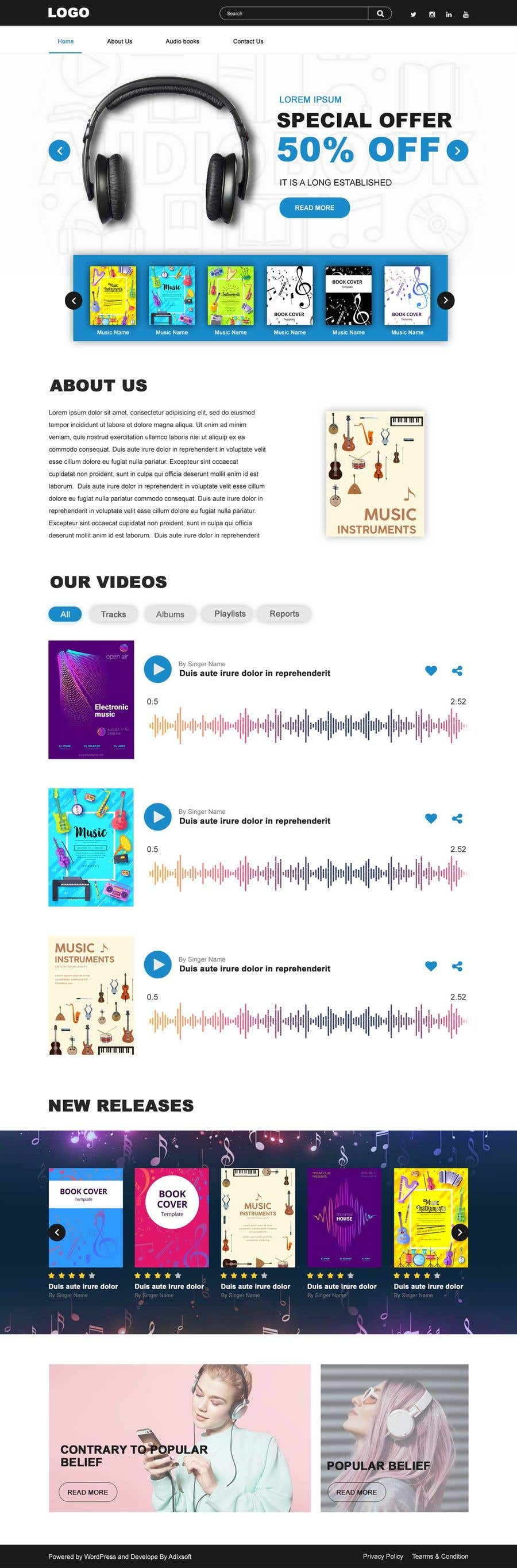 Proposition n°                                        7                                      du concours                                         Design & setup site web