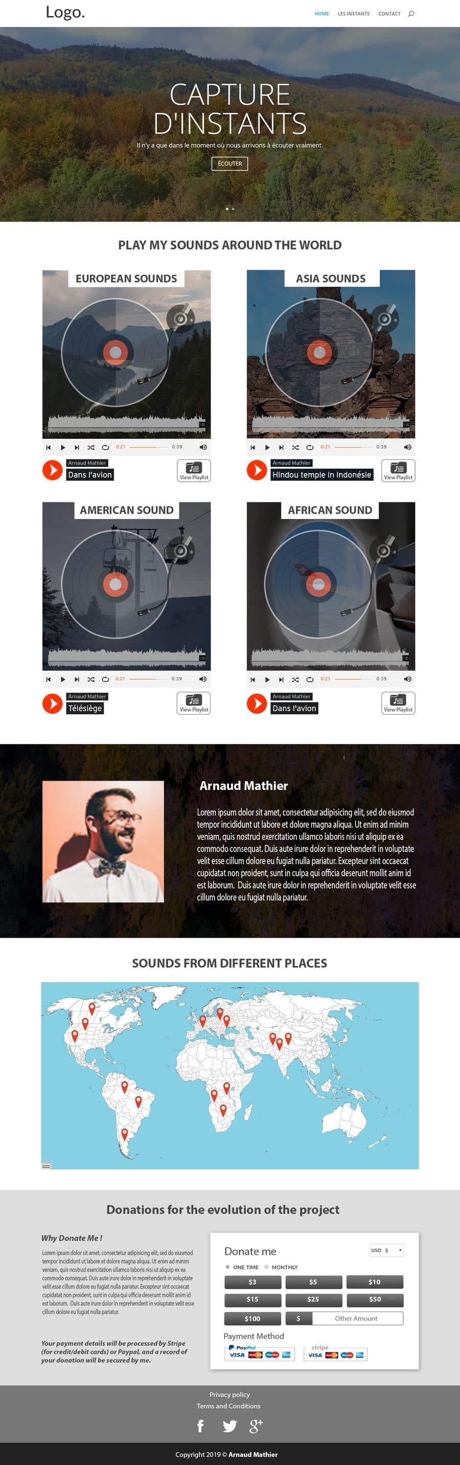 Proposition n°                                        20                                      du concours                                         Design & setup site web