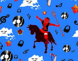 #21 for Create A Seamless Pattern of Baby Devils Riding On Evil Unicorns With Background Items Also by nobelium18