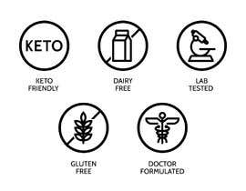 #14 untuk Create icons for keto supplement product label oleh Ichwan94