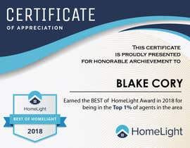 #12 untuk Award Certificate - 10/03/2019 13:38 EDT oleh petersamajay