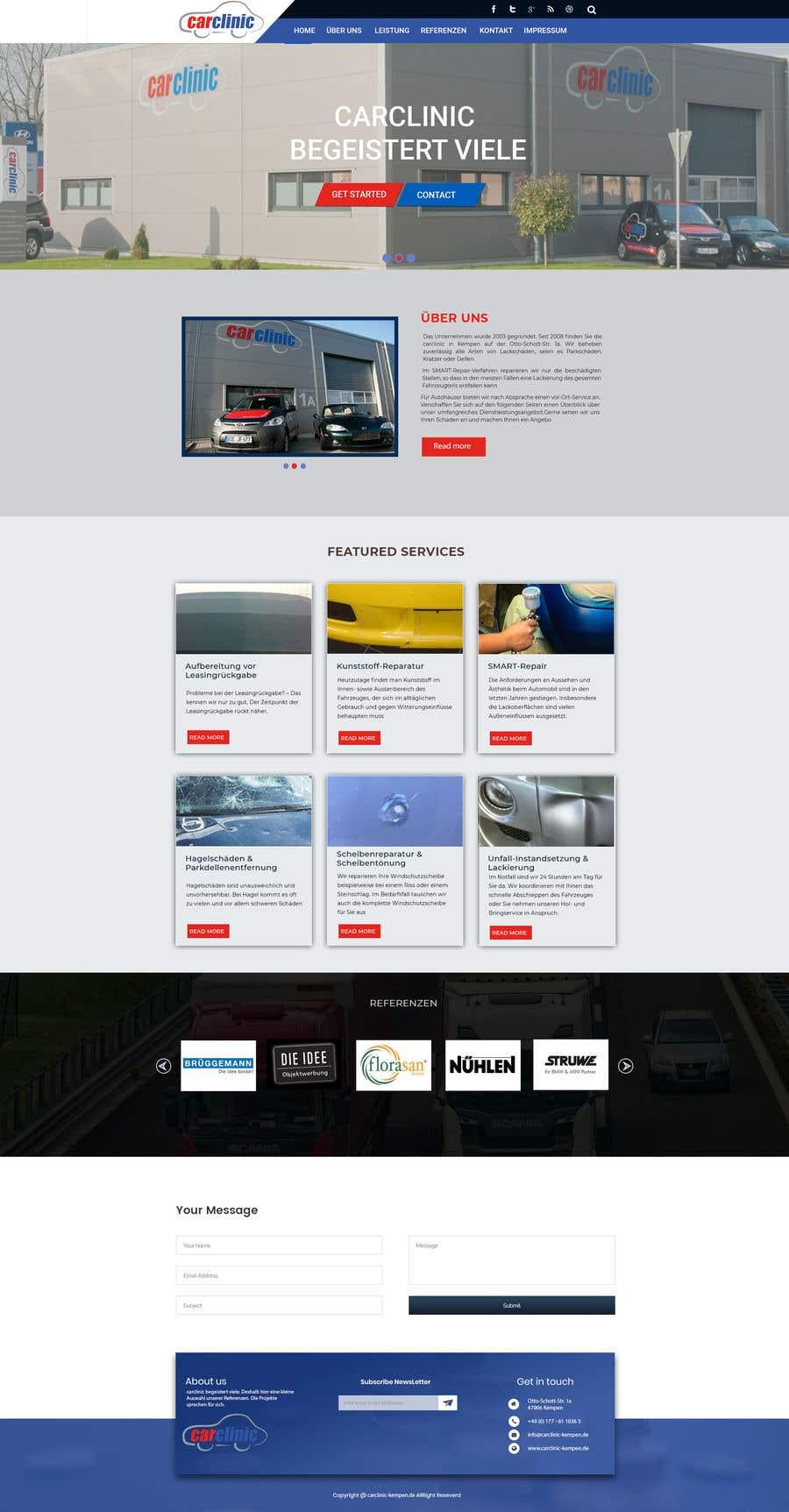 Konkurrenceindlæg #6 for Webdesign Car Painter