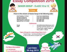 nº 15 pour Poster Design for Essay Contest Jr 2019 par bishalchandra