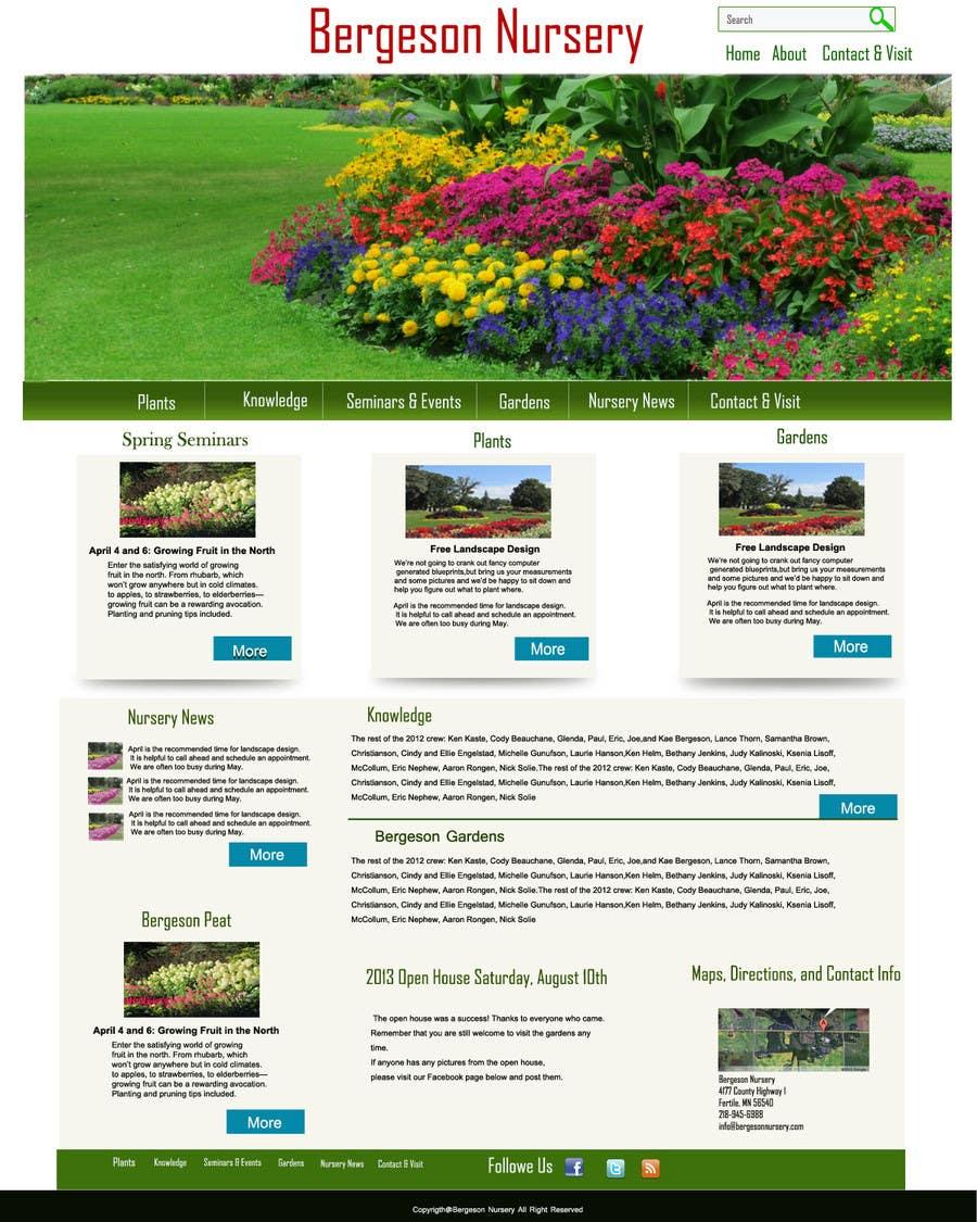 Inscrição nº                                         13                                      do Concurso para                                         Design Inspiration for Bergeson Nursery Website