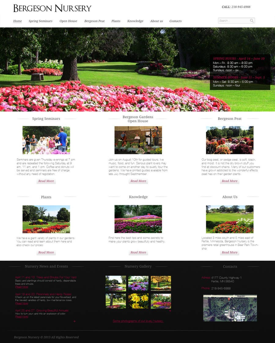 #27 for Design Inspiration for Bergeson Nursery Website by FAgfx