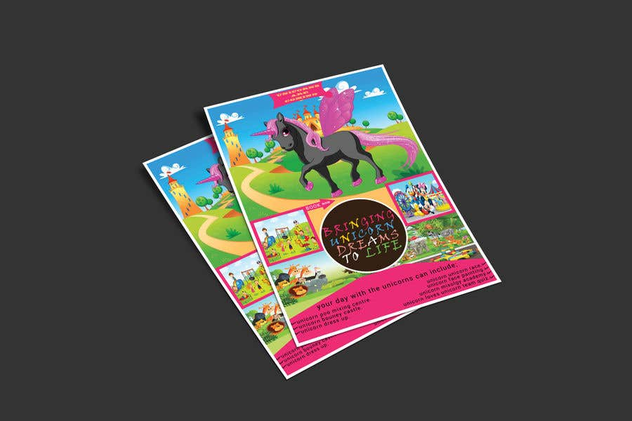 Proposition n°149 du concours Flyer Design Kinds Unicorn Event